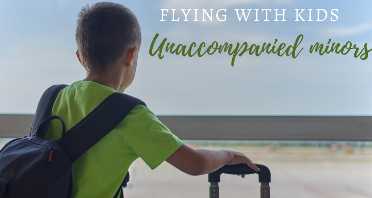 Children flying as unaccompanied minors