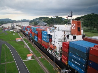 Ships on the Panama Canal Colon