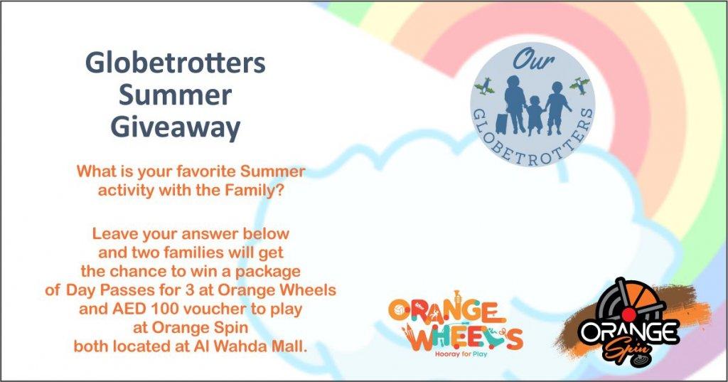 Orange Wheels and Orange Spin Giveaway