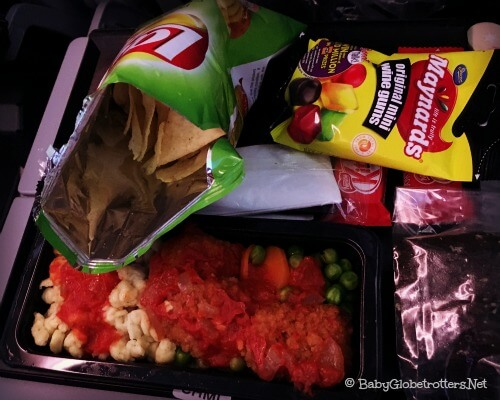 Qatar Airways Lunch DOH-CPT | Family Friendly Airline Review | OurGlobetrotters.Com