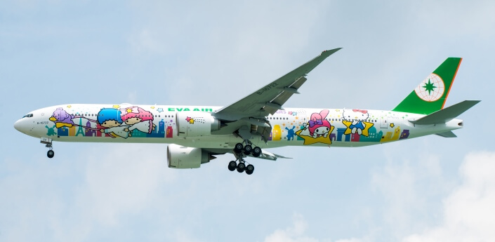 Hello Kitty Jet | Family Flying Airline Review EVA Air | Baby Globetrotters.Net