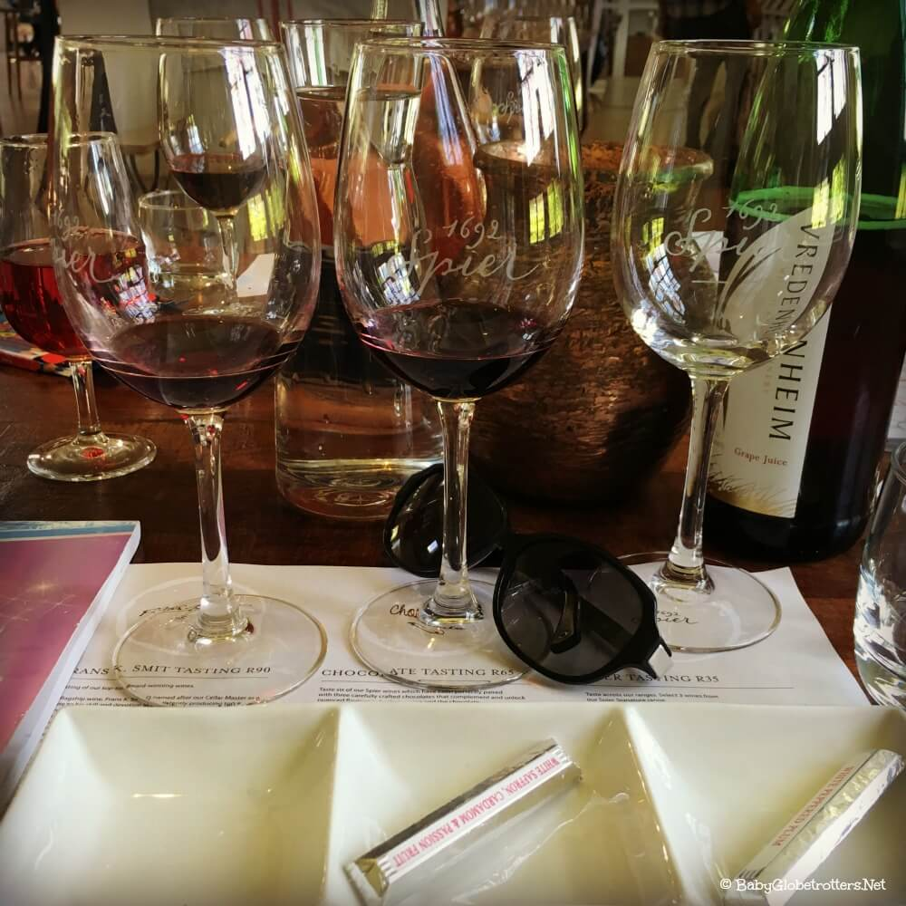 wine and chocolate matching at Spier Stellenbosch