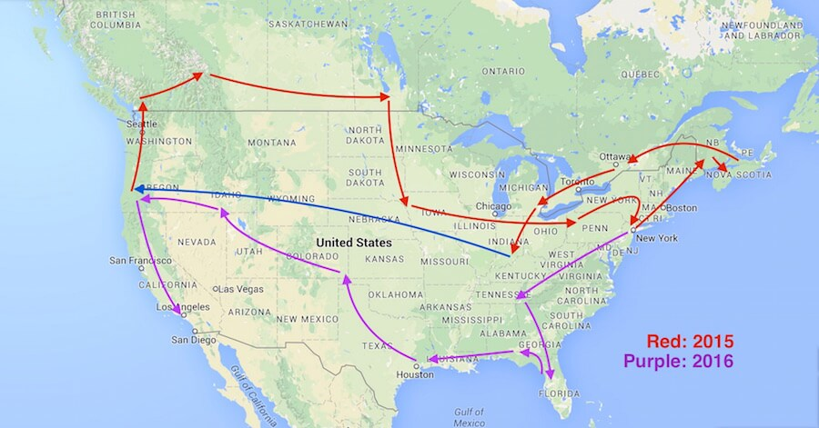 Mother of all road trips