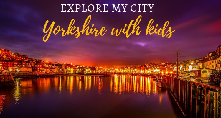 Whitby Harbour at night - Explore Yorkshire and the Yorkshire Dales with kids
