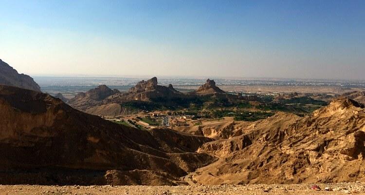 View from Jebel Hafeet down to Green Mafazzarah