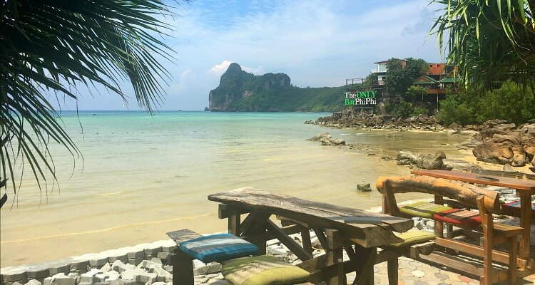 Loh Dalam Bay, the quieter side of Tonsai Bay with dreamy ocean views only minutes from the pier