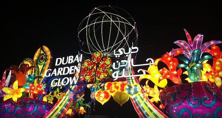 Dubai Garden Glow & Dinosaur Park with kids