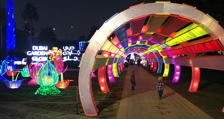 Dubai Garden Glow and Dinosaur Park   Family day out review