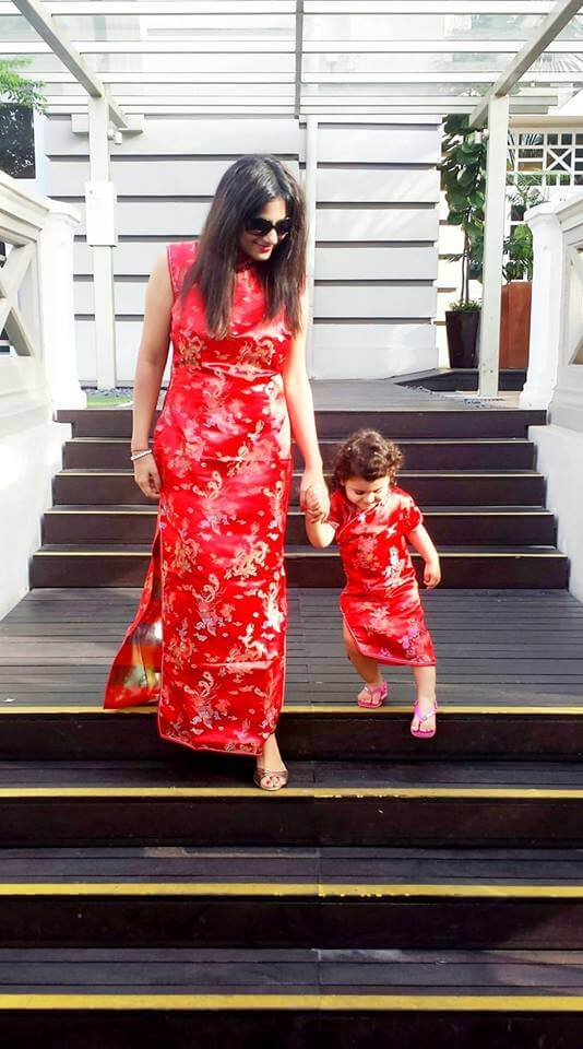 Me and my daughter on Chinese New Year in Singapore in 2014