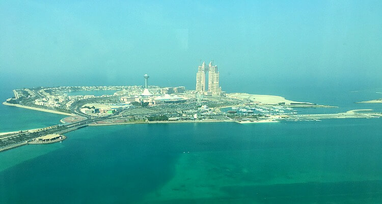 View from junior suite, St Regis Abu Dhabi, Nation Towers