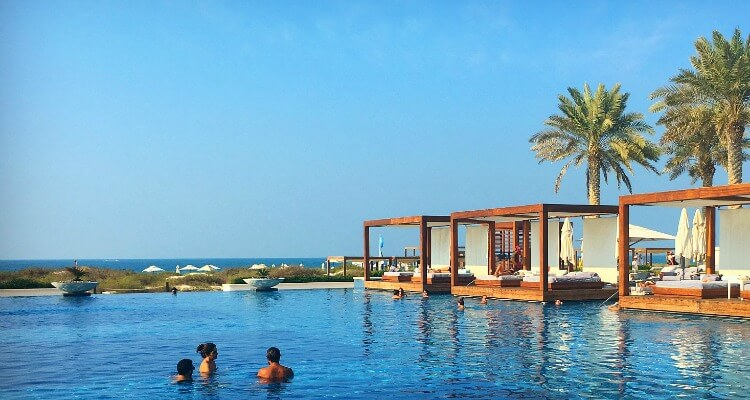 Saadiyat Island Beach resorts overlook the Gulf
