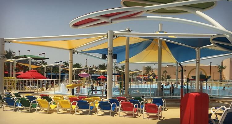 Legoland Water Park Dubai family review - shade is in short supply