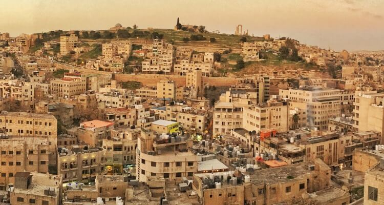 Jordan's capital Amman at sunset | Our Globetrotters