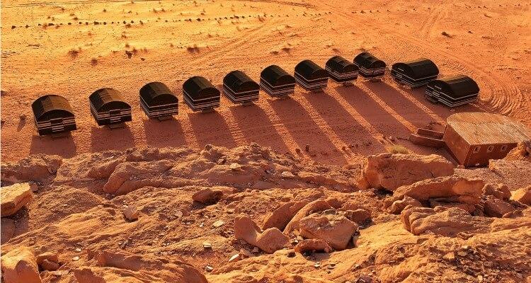 Jordan camping at Wadi Rum