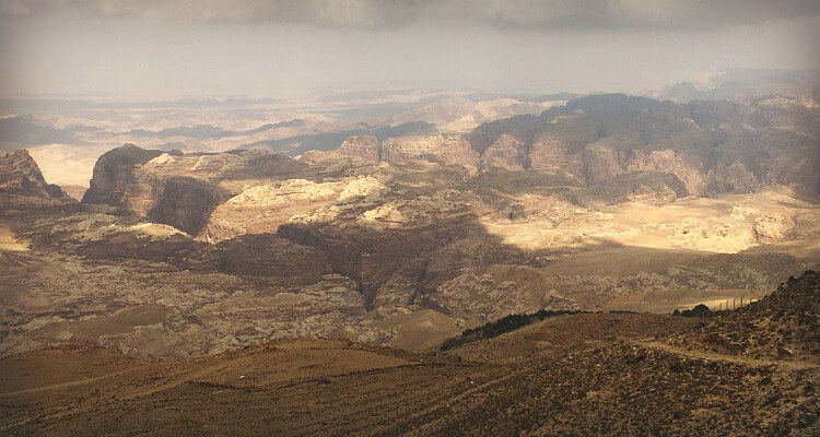 Jordan Road Trip - view over Petra Valley and the lost city | Our Globetrotters