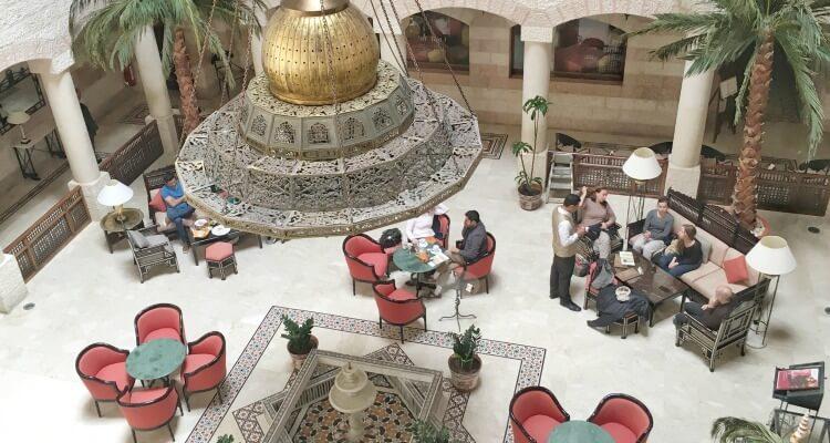 Inside the rather lavish and atmospheric Mövenpick Resort, Petra - Jordan Road Trip