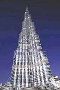 The unmistakable Burj Khalifa, tallest building in the world