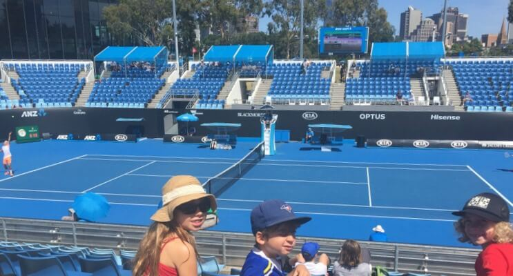 Watching the Australian Open Tennis in Melbourne | Explore My City Melbourne with Kids