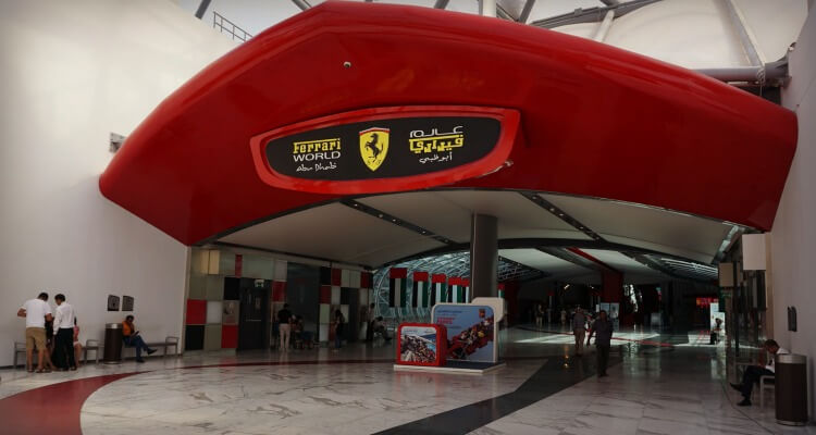 Ferrari World Abu Dhabi front entrance | Our Globetrotters