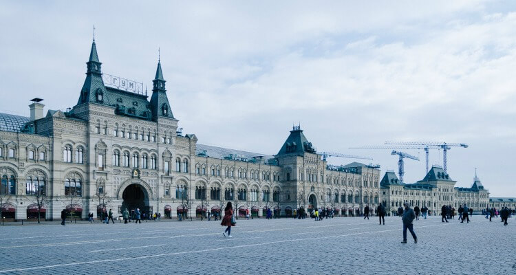 Gum department store Red Square | Exploring Moscow with Kids