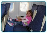 Leg Rest Travel pillow by first class kids travel product review flying with kids