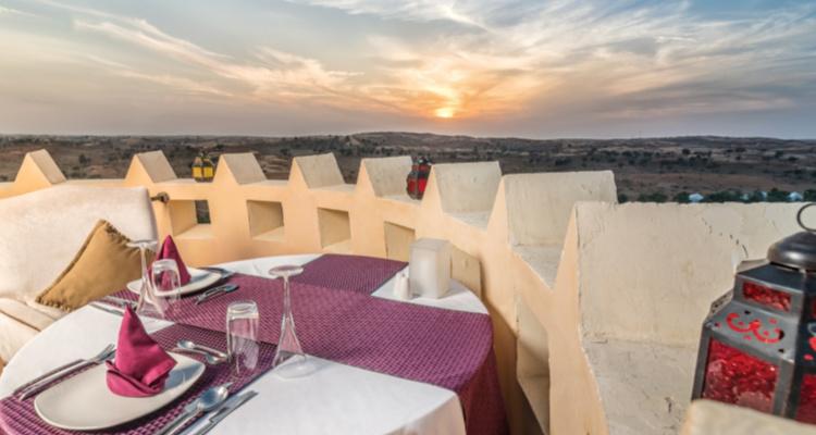 Desert private dining at Al Wadi Tower - Al Wadi by Ritz in Ras al Khaimah