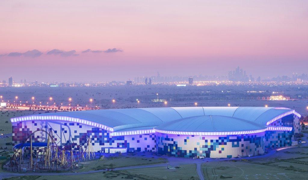 IMG Worlds Of Adventure Exterior Full park image | Dubai's best theme park for families
