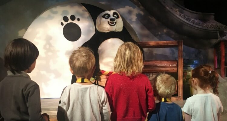 Kung Fu Panda Academy interactice show at Motiongate Dubai | Our Globetrotters best theme parks in Dubai
