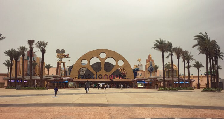 Motiongate Dubai entrance | Our Globetrotters which are the best Dubai theme parks