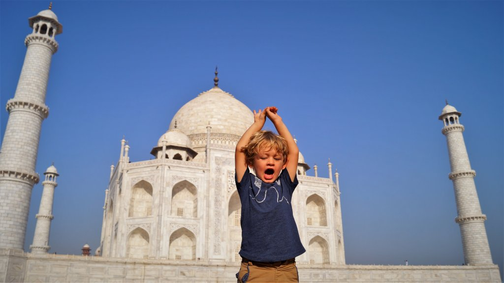 Visit the Taj Mahal Modern Seven Wonders fo the World with Kids | Our Globetrotters Adventure Family Travel