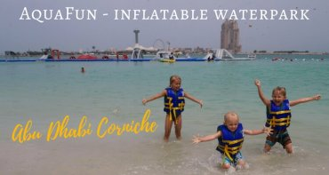 What can you expect at AquaFun on the Abu Dhabi Corniche