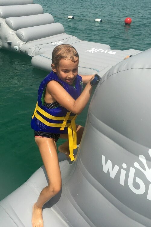 AquaFun Abu Dhabi Corniche inflatable play park   Review by Our Globetrotters