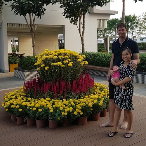 Expat Entrepreneur Jon Pepper founder of Tigit Motorbikes with his family