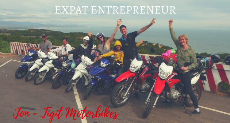 Expat Entrepreneur Jon Pepper founder of Tigit Motorbikes in Vietnam