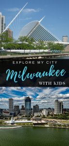 Milwaukee city skyline from above | Explore My City Guide to visiting Milwaukee with kids