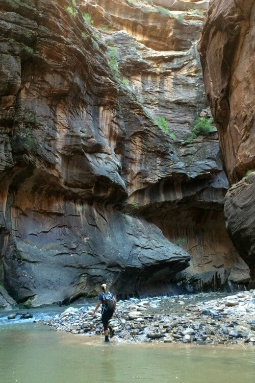 Hiking the Narrows at Zion \ Day Trip ideas from Las Vegas