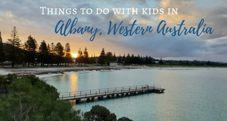 Things to do in Albany Western Australia with your kids ~ Sunset over Middleton Beach