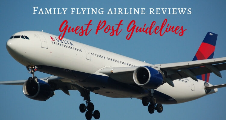 Delta Plane landing. Guest Contributor Guidelines for family airline reviews on the Globetrotters Blog