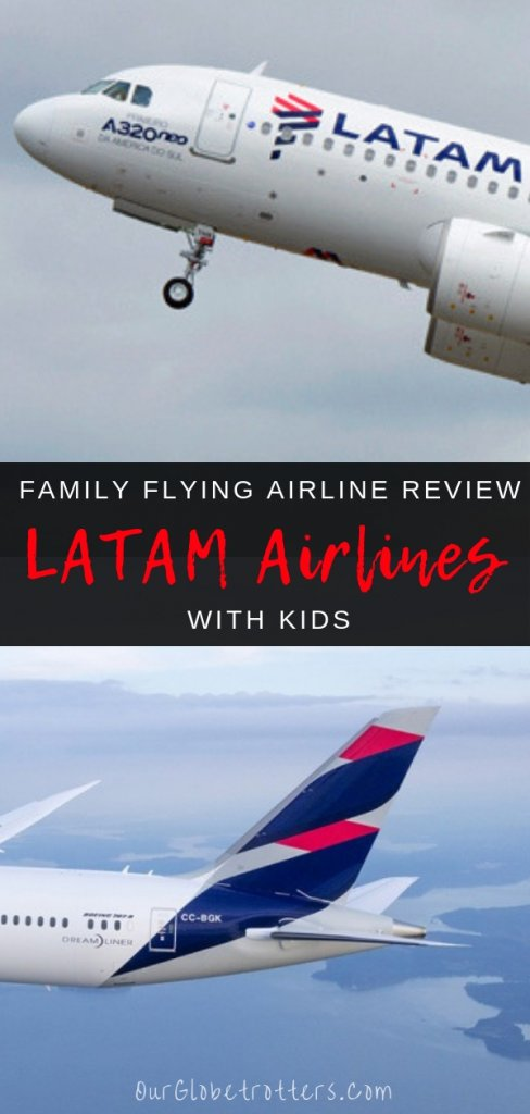 What's it really like to fly long-haul with LATAM Airlines? Family travel blogger Thais share's her family's experience with Our Globetrotters Family Flying Airline Reviews