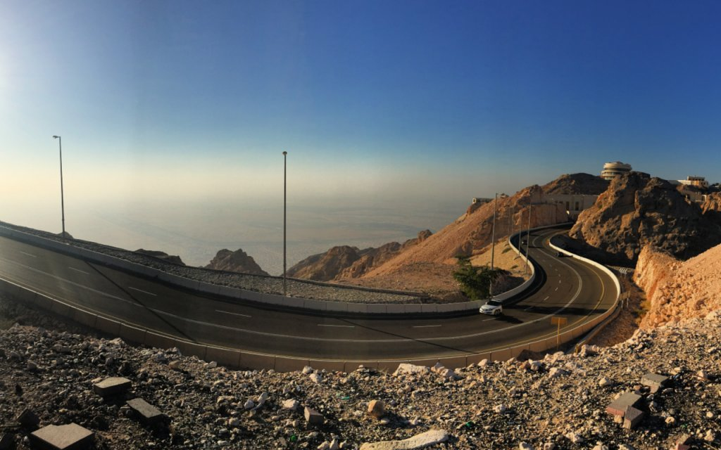 Mountainous views from the top of Jebel Hafeet in Al Ain UAE