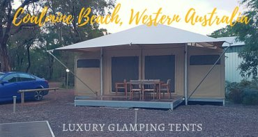 Luxury Glamping tents Coalmine Beach Western Australia