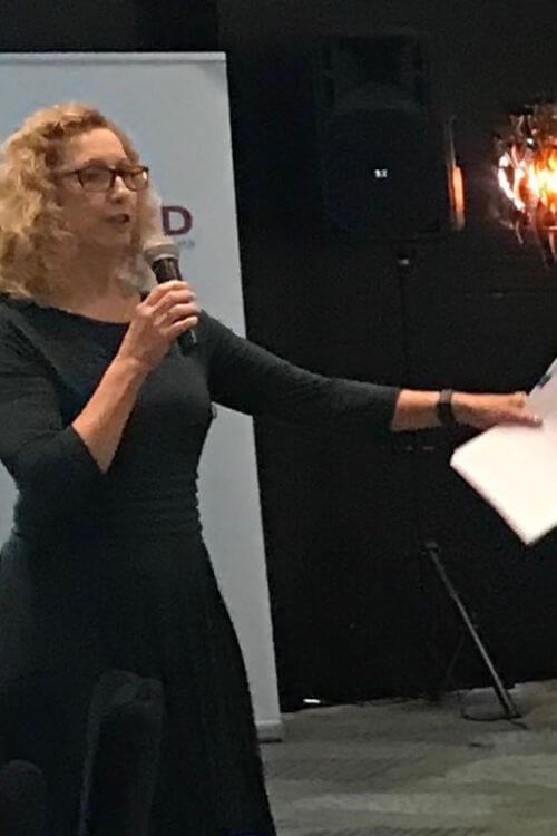 Julie Cooper presenting at work
