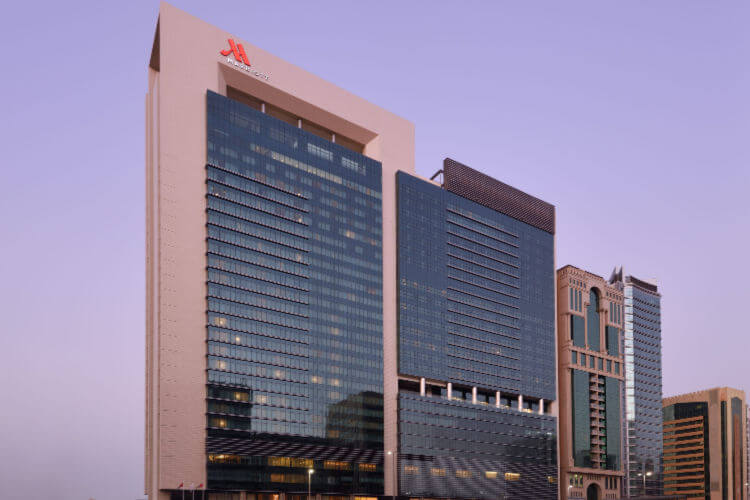 Marriott Executive Apartments Downtown Abu Dhabi exterior view of building
