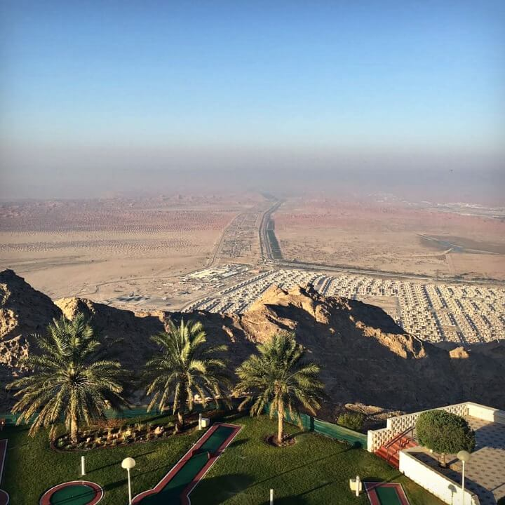 View from Mercure Grand Jebel Hafeet