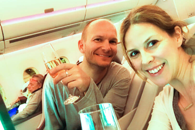 Enjoying Qatar Business Class with a cheap upgrade offer