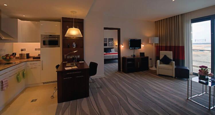 Staybridge Suite interior best hotel apartments in Abu Dhabi
