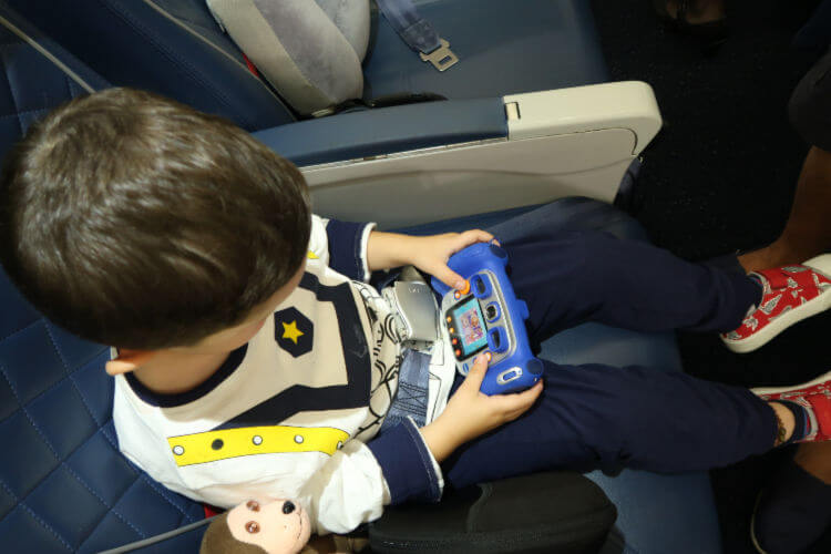 Child flying in Premium Economy with Delta