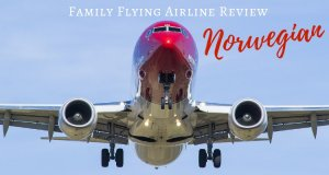 Norwegian airplane | Family Flying Review Blog Post on Our Globetrotters Flying with Kids