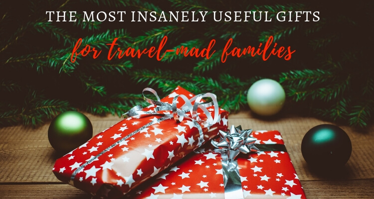 Gifts under a tree - gifts for travel-mad families