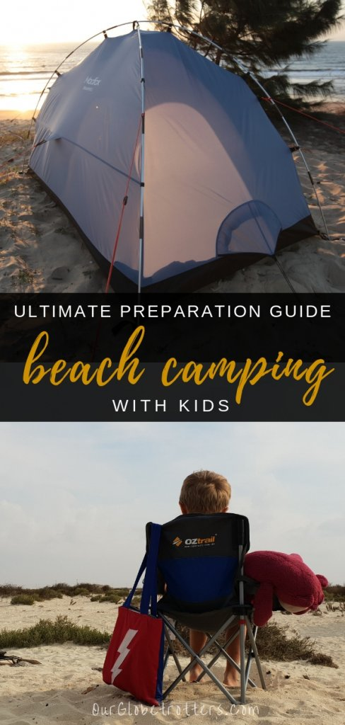 Ultimate guide for preparing your family for a beach camping trip including handy tips and a downloadable packing list